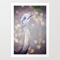Emu Love Art Print