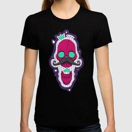 Pink Mustache Skull T-shirt