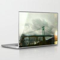 marc johns Laptop & iPad Skins featuring St. Johns Bridge by AmyLange
