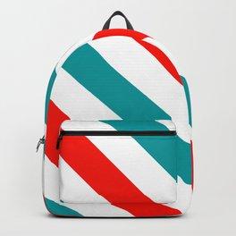 Diagonal Stripes Pattern: Barber Stripes Backpack