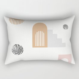 Elektra - earthtones art print, abstract art prints, minimalist art print, minimalism decor, Rectangular Pillow