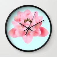 hawaiian Wall Clocks featuring Hawaiian by Stag Prints