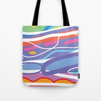 san diego Tote Bags featuring San Diego by charker