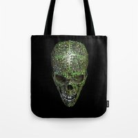 data Tote Bags featuring Bad data by GrandeDuc