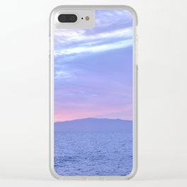 Rose Quartz and Serenity sunset. Clear iPhone Case