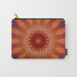 Vibrant Purple Orange Mandala Design Carry-All Pouch
