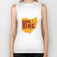lebron Biker Tanks featuring Home of the King (Red) by Denise Zavagno