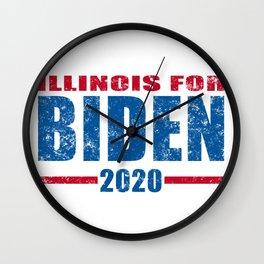 illinois for biden 2020 Wall Clock