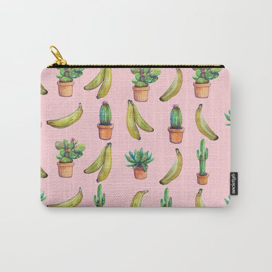 For Her (cactus and Bananas) Carry-All Pouch