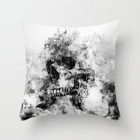 silent hill Throw Pillows featuring Silent Hill by RIZA PEKER