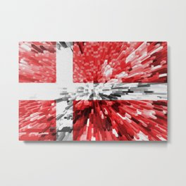 Extruded Flag of Denmark Metal Print