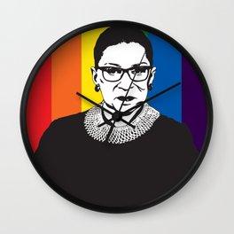 Ruth Bader Ginsburg Rainbow Wall Clock