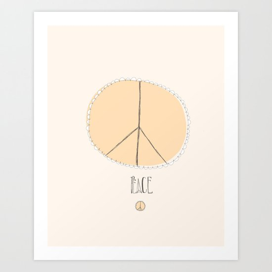 Lovely Little Peace Sign Art Print