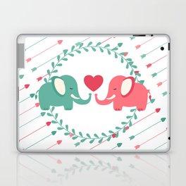 Elephant Love with Arrows Laptop & iPad Skin