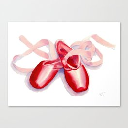 Red Toe Shoes Canvas Print