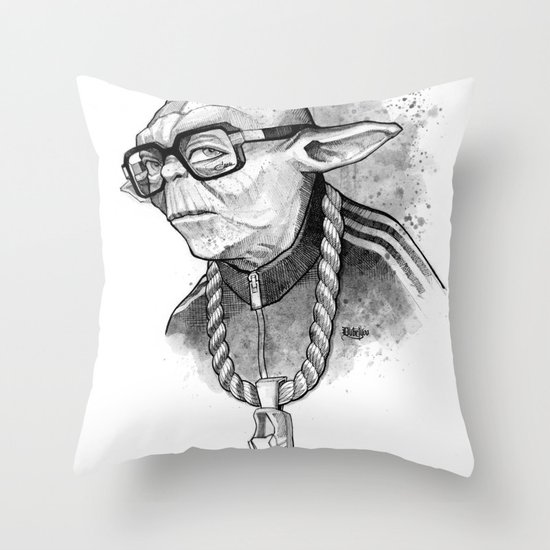 YO DMC Throw Pillow