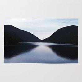 Mountain Lake Reflection Rug