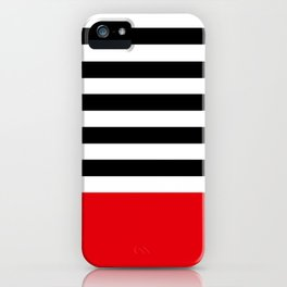 Rouge Rayures iPhone Case