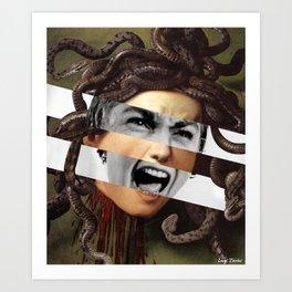 Caravaggio's Medusa & Vivien Leigh in Psycho Art Print