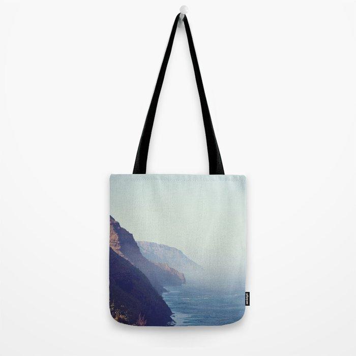 Hawaii Mountains Along the Ocean Tote Bag