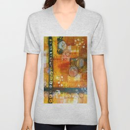 Abstract Hot and Spicy Unisex V-Neck