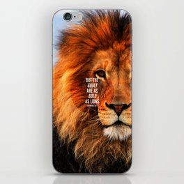 BOLD AS LIONS iPhone Skin