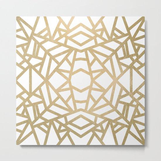 Gold Sun Metal Print