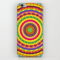 batik iPhone & iPod Skins featuring Batik Bullseye by Peter Gross