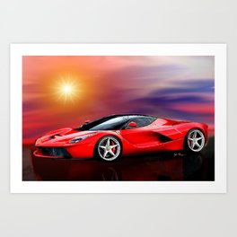 Red Ferrari Art Print