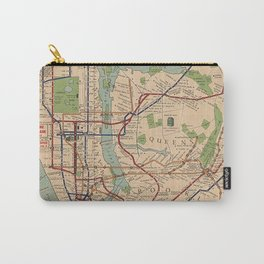 New York City Metro Subway System Map 1954 Carry-All Pouch