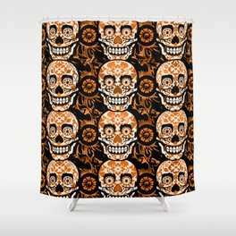 Halloween Calaveras Shower Curtain