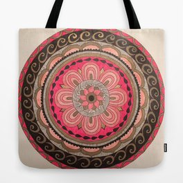 Pink & Gold Mandala Tote Bag
