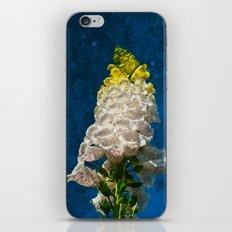 White Foxglove flowers on texture iPhone & iPod Skin