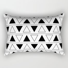 Black and White Triangle Geometric Patter Rectangular Pillow