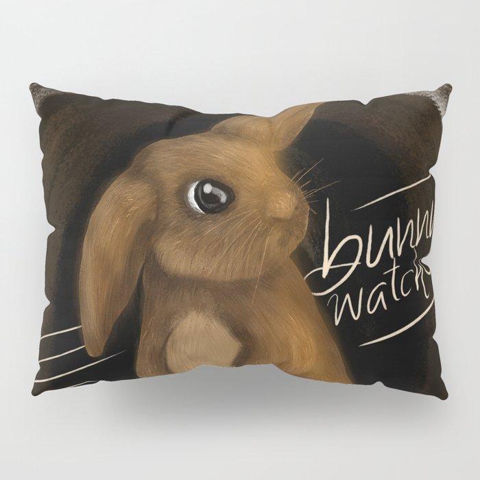 Night Time Bunny Watch Pillow Sham