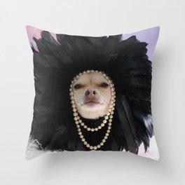 Chihuahua Vogue  Throw Pillow