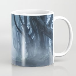 Very cold foggy morning at Dark Hedges Coffee Mug