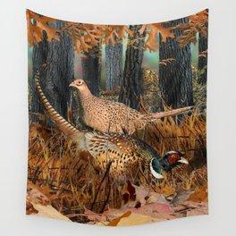 Pheasants Wall Tapestry