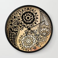 yin yang Wall Clocks featuring Yin Yang by Jenndalyn