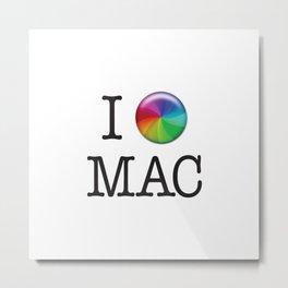 I Love Mac Metal Print