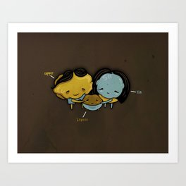 They Totally Smelted Art Print