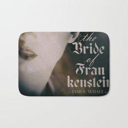The Bride of Frankenstein, vintage movie poster, Boris Karloff cult horror Bath Mat