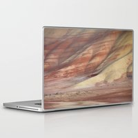 minerals Laptop & iPad Skins featuring Hills Painted by Earth Minerals by Leland D Howard