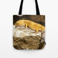 lizard Tote Bags featuring Lizard by GardenGnomePhotography