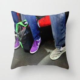 Three And A Half Feet Throw Pillow