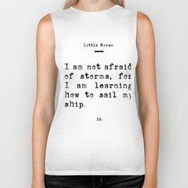 Unafraid Book Quote - Little Women Biker Tank
