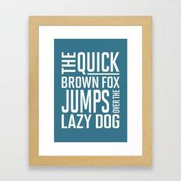 The Quick brown fox Framed Art Print