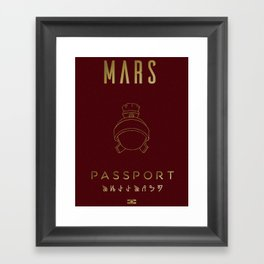 MARS-Passport Framed Art Print