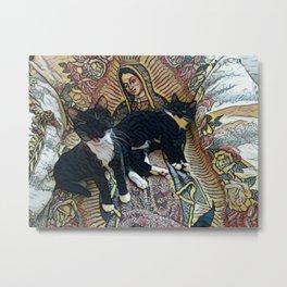 My identical twins kittens, Julian & Joaquin Metal Print