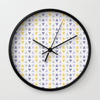 southwest Wall Clocks featuring Southwest Triangles by Kara Peters